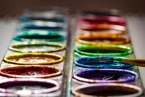 rainbow watercolor paint set perspective_denise johnson